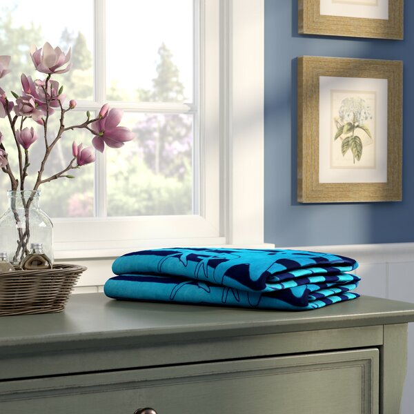 Oversize Jacquard Es With Starfish 100% Cotton Beach Towel by Winston Porter